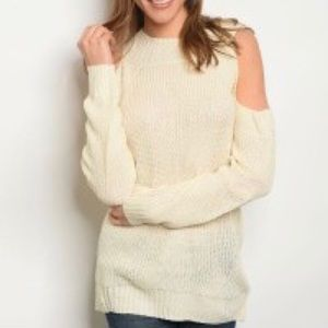 Settledown - Cold Shoulder Pull Over Sweater